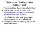 deborah and the canaanites judges 4 5 313