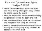 ehud and oppression of eglon judges 3 12 305