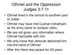 othniel and the oppression judges 3 7 11