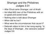 shamgar and the philistines judges 3 31