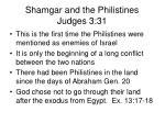 shamgar and the philistines judges 3 312