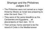 shamgar and the philistines judges 3 313