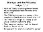 shamgar and the philistines judges 3 314