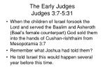 the early judges judges 3 7 5 31