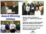 award winning utilities