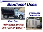 fleet fuel my truck smells like french fries