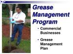 grease management program