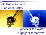 oil recycling and biodiesel today