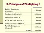 2 principles of firefighting i
