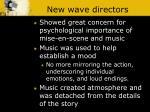 new wave directors