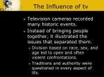 the influence of tv