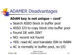 adamer disadvantages1