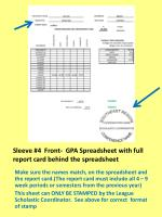 sleeve 4 front gpa spreadsheet with full report card behind the spreadsheet