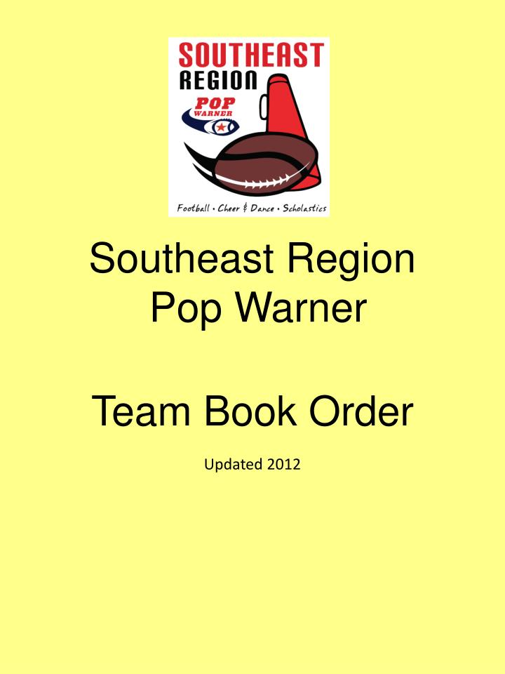 southeast region pop warner n.