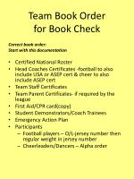 team book order for book check