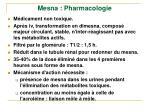 mesna pharmacologie