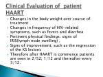 clinical evaluation of patient haart