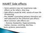 haart side effects