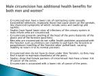 male circumcision has additional health benefits for both men and women