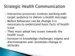strategic health communication