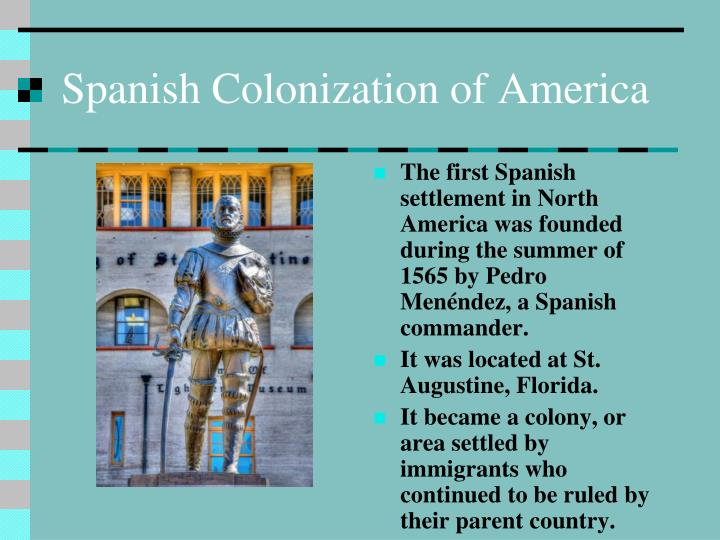 english colonization essay Spanish & english colonization processes (1450-1800) were similar and different: political: both had specific governing system spain's was council of indies.