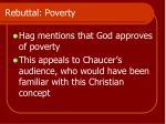 rebuttal poverty
