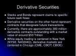 derivative securities