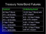 treasury note bond futures