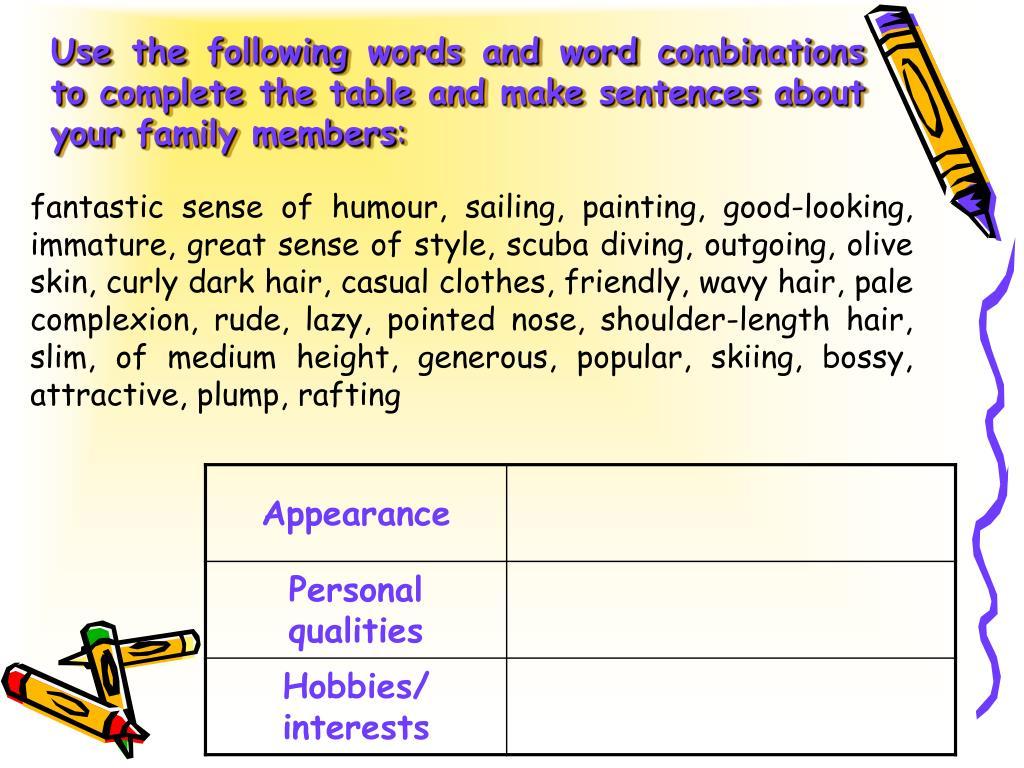 PPT - DESCRIBING PEOPLE PowerPoint Presentation - ID:1172061