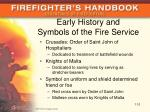 early history and symbols of the fire service