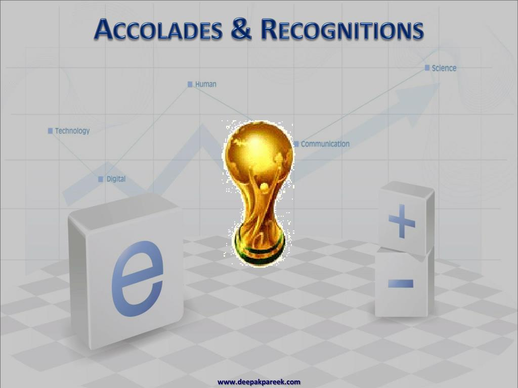 Accolades & Recognitions
