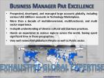 business manager par excellence13