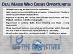 deal maker who create opportunities17