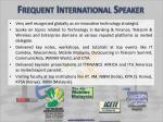 frequent international speaker22