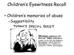 children s eyewitness recall