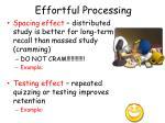 effortful processing