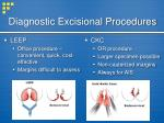 diagnostic excisional procedures