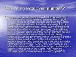 benefiting local communities