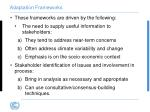 adaptation frameworks