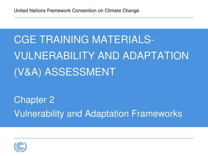 cge training materials vulnerability and adaptation v a assessment n.