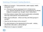selecting a framework guiding questions