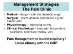 management strategies the pain clinic