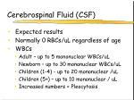 cerebrospinal fluid csf14