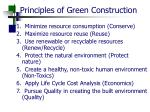 principles of green construction