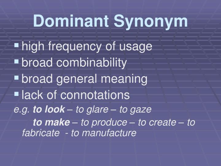 Dominant Synonym