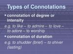 types of connotations