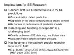 implications for se research
