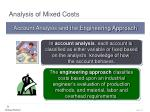 analysis of mixed costs