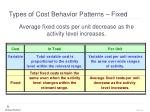 types of cost behavior patterns fixed1