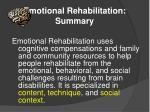 emotional rehabilitation summary